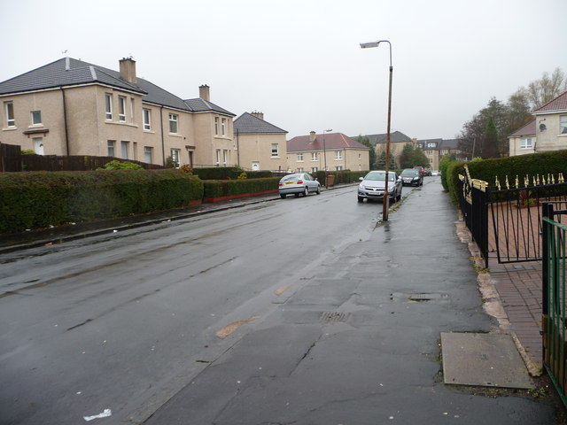 Looking north along Culross Street, Shettleston