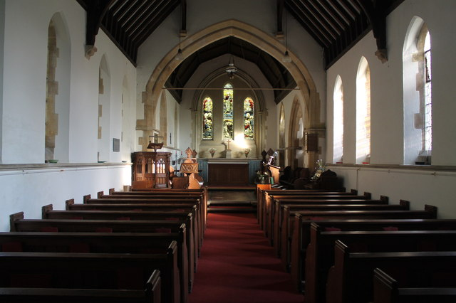 Interior, St Martin's church, Withcall