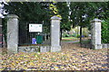 SP5010 : Entrance to Wolvercote Cemetery from Five Mile Drive by Roger Templeman