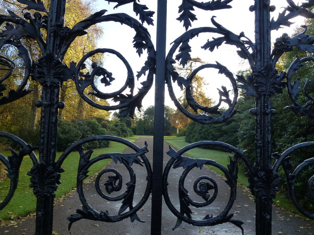 Looking through The Norwich Gates at Sandringham