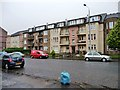 NS6564 : Flats with balconies and gardens, Shettleston Road by Christine Johnstone