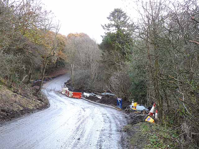 Landslip on Peth Lane