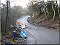 NZ1747 : Landslip on Peth Lane by Oliver Dixon