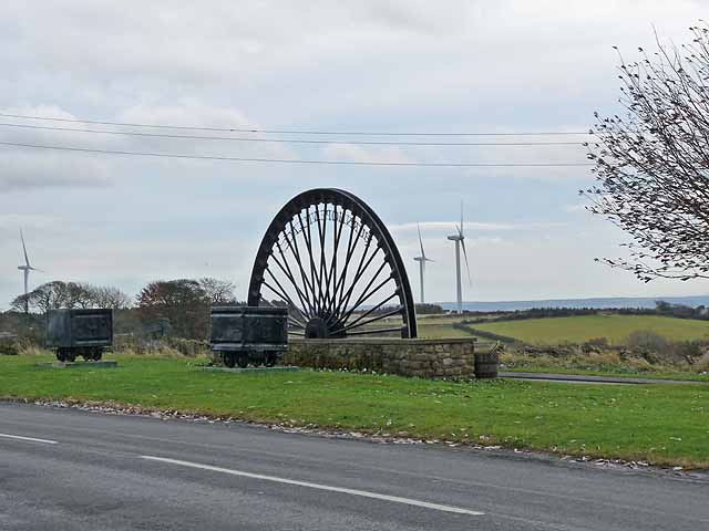 Burnhope Village Pit wheel