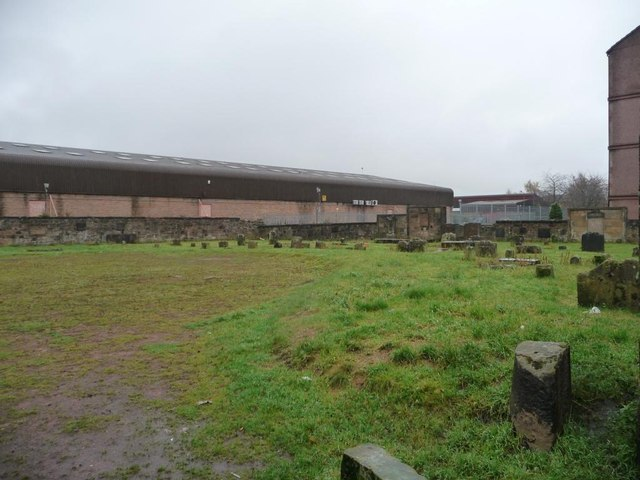 Eastern end of graveyard, Shettleston Road