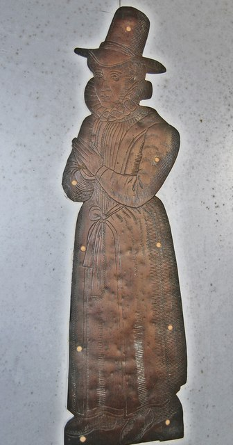 Brass of Unknown Female, All Saints' church, Lydd
