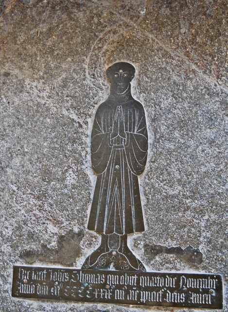 Brass to John Thomas, All Saints' church, Lydd