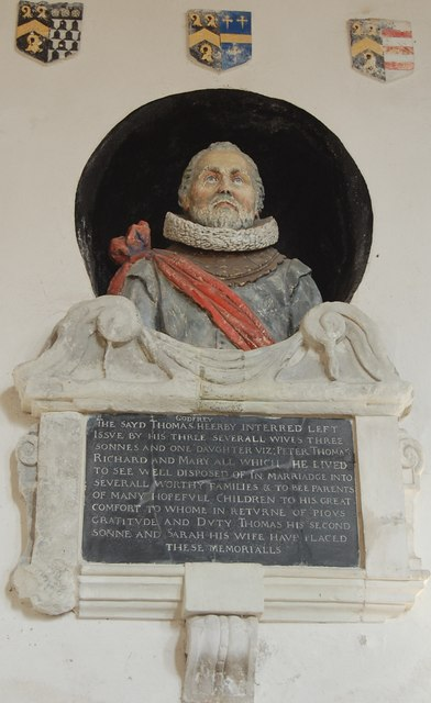 Memorial to Thomas Godfrey, Lydd church