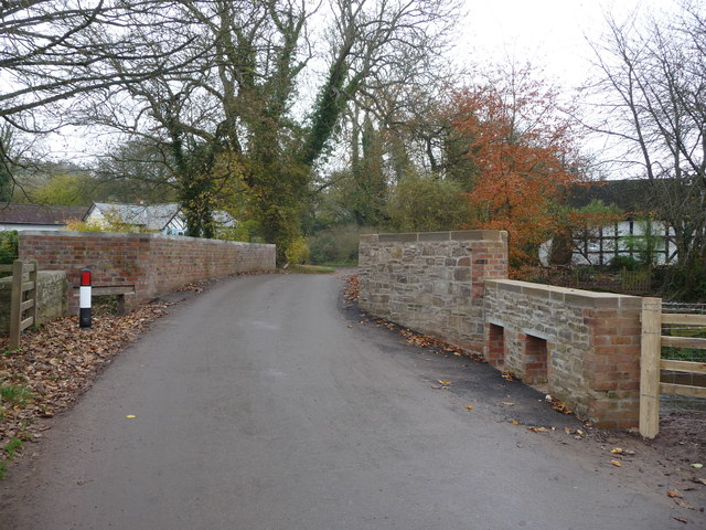The refurbished bridge in Neen Sollars
