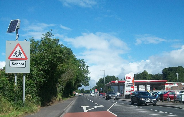 Esso Service Station on the Irvinestown Road, Enniskillen