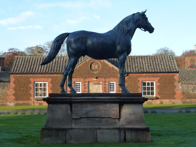"Statue of the racehorse ""Persimmon""  at Home Farm, Sandringham"