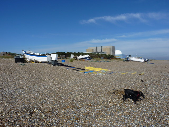 Fishing boats on Sizewell Beach