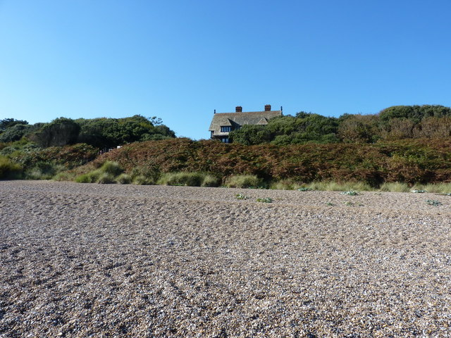 Sizewell Hall behind the beach