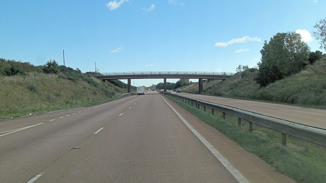 A30 overbridge southwest of Lovaton