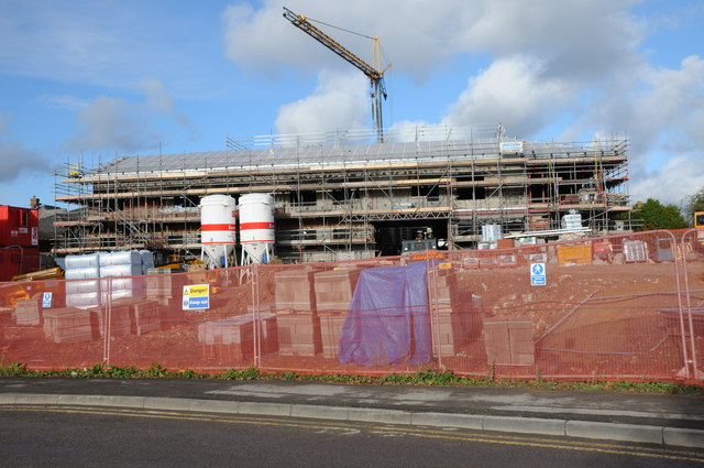 Construction of the new Tewkesbury Hospital
