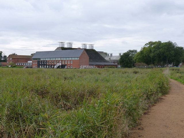The eastern aspect of the Maltings at Snape