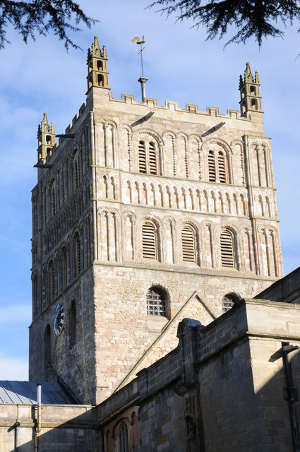 Tower of Tewkesbury Abbey