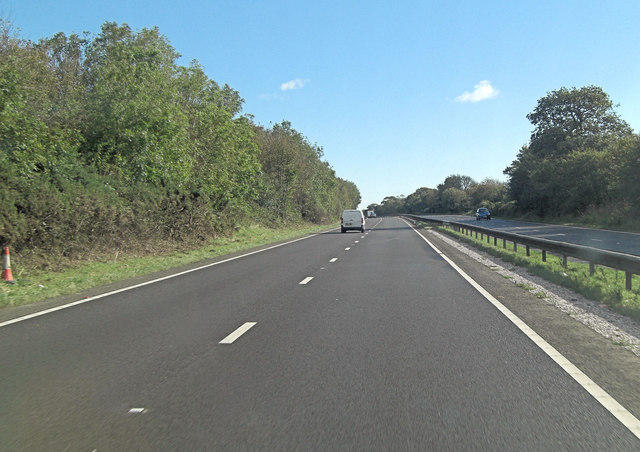 A30 south of Grendon Farm