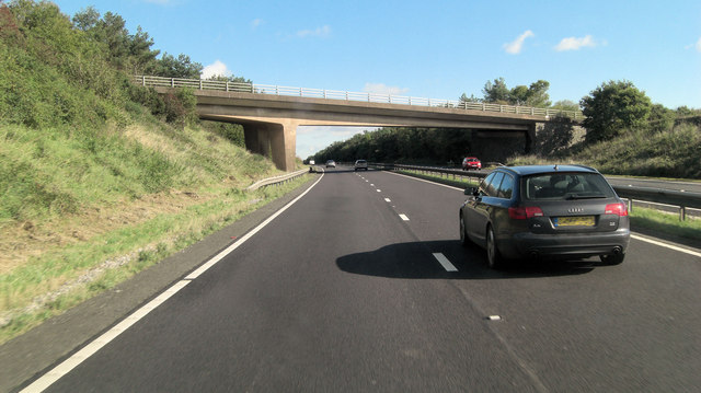 A30 overbridge south of Manor Farm