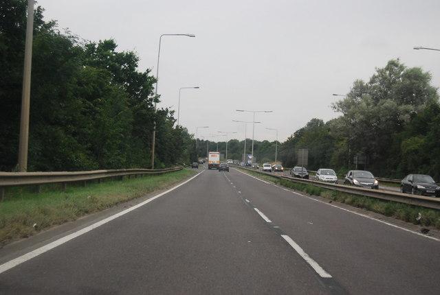 A13, westbound