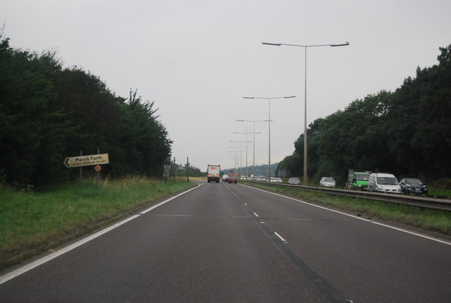 A13, Marsh Farm turning
