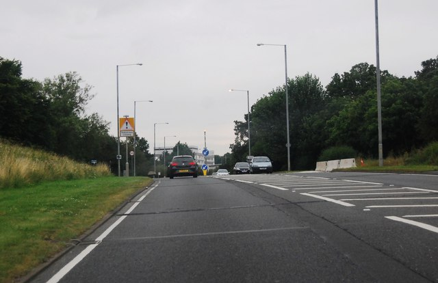 A176 approaching Basildon Hospital