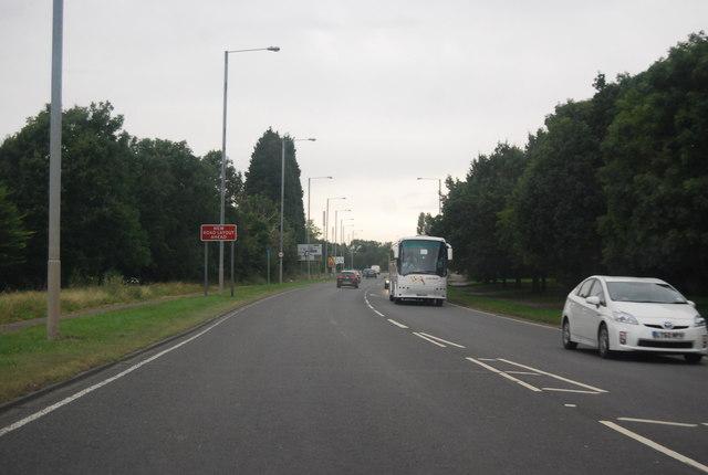 A176 passing Basildon Hospital