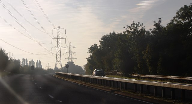 A308 and pylons