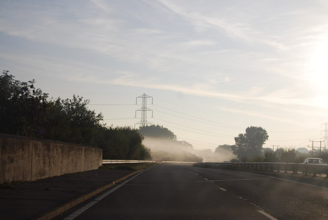 Early morning mist, A30