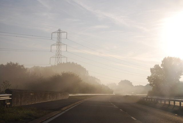 Early morning on the A30