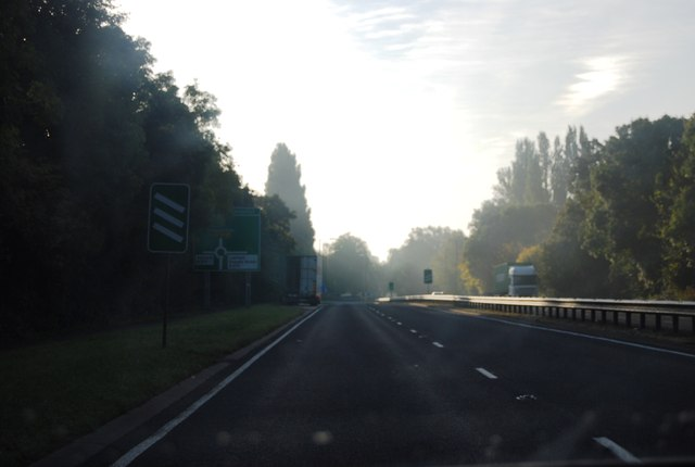 Early morning light on the A308