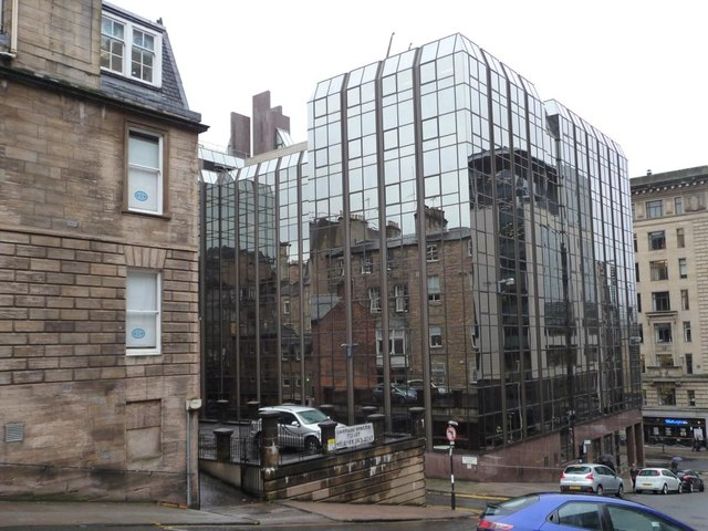 Reflecting the neighbours on Blythswood Street