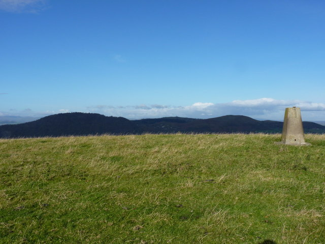 Towards the Breidden Hills from Hargrave Bank trig