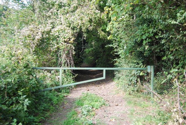 Barrier near Court Farm