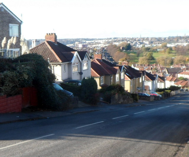 Steep descent, Redcatch Road, Knowle, Bristol
