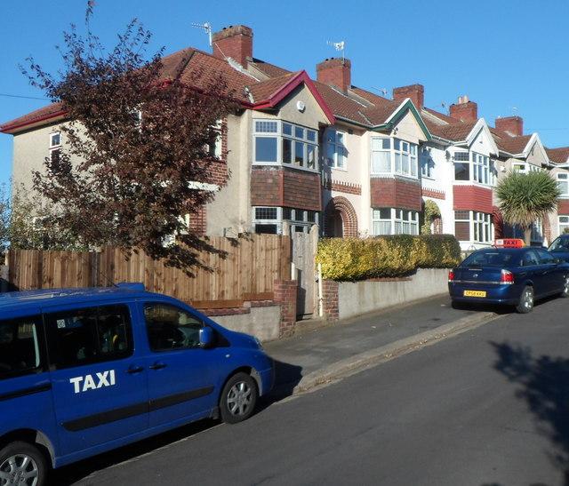 Two taxis in Ravenhill Avenue, Knowle, Bristol