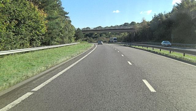 A30 crossed by farmbridge from Cutteridge Farm