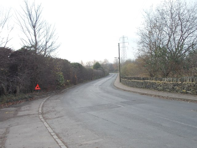 Spout House Lane - viewed from St Giles Road