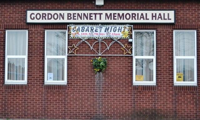 Gordon Bennett!... Memorial hall in Thurcroft