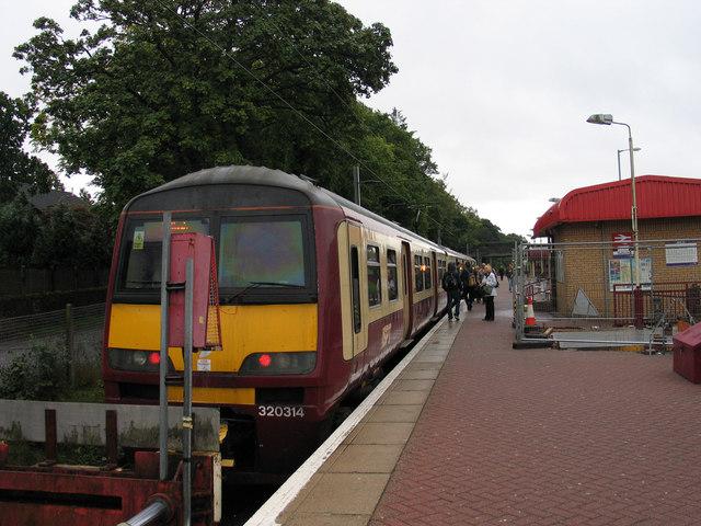 Platform at Balloch station
