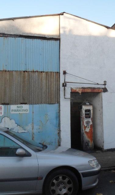 Rusty old petrol pump, Montgomery Street, Bristol