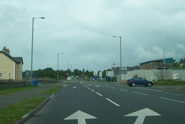 Approaching the Border at Belleek