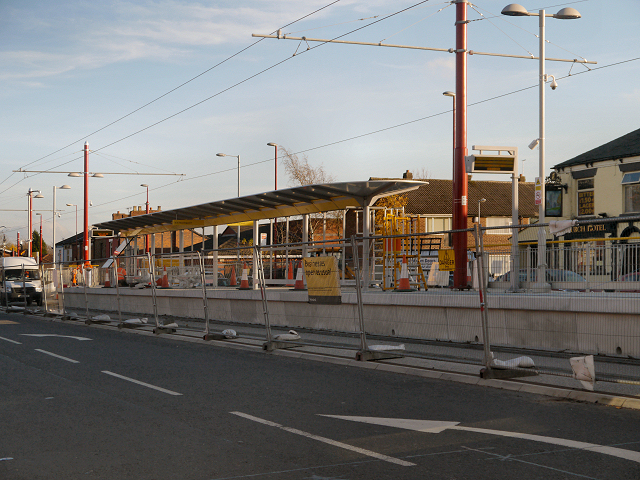 Droylsden Tram Station Under Construction