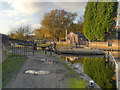 SJ9097 : Ashton Canal, Fairfield Lock by David Dixon