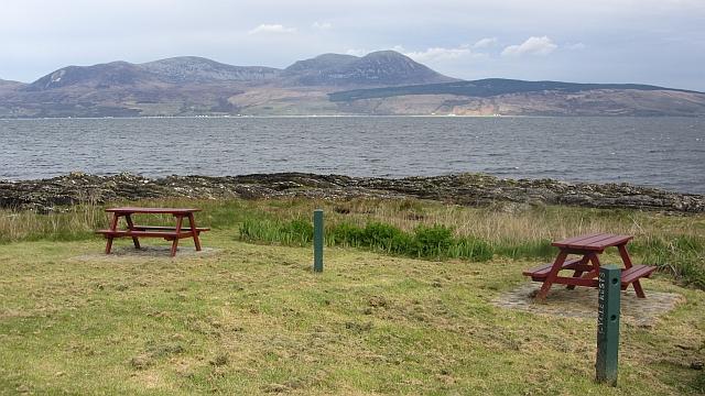 Picnic tables, Port a' Mhadaidh