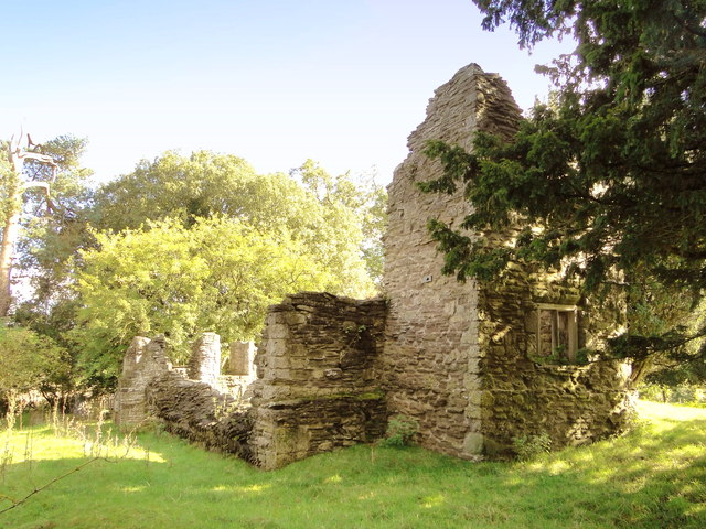 Ruins of the old church, Edvin Loach