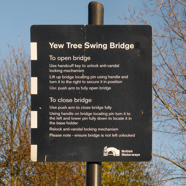 Yew Tree Swing Bridge Instructions