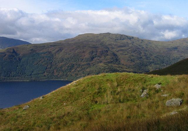 Hillside beside path to Ben Lomond