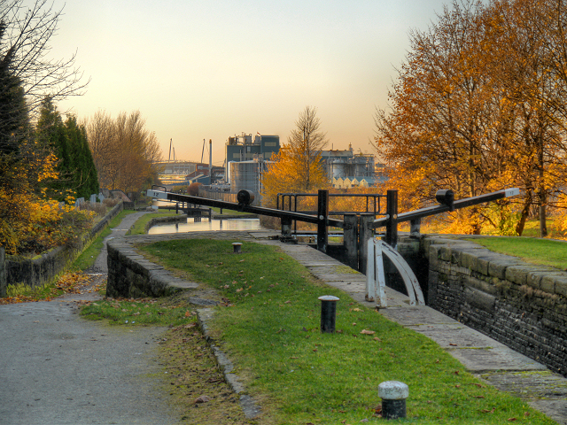 Ashton Canal, Lock 12 (Boneworks) at Clayton
