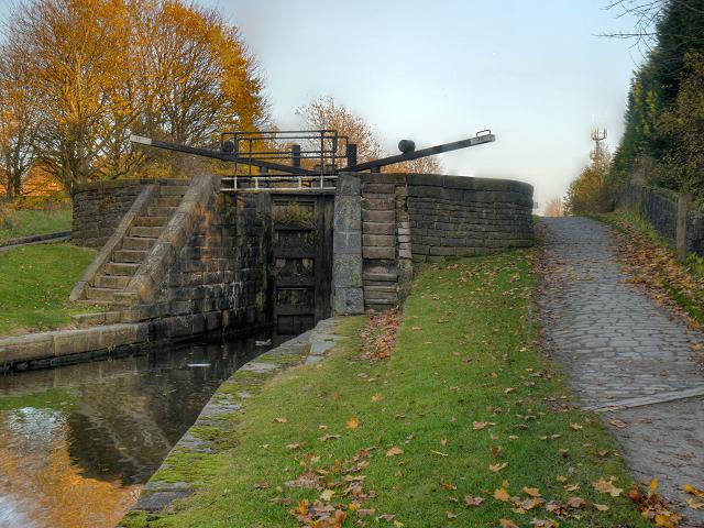 "Ashton Canal, ""Boneworks"" Lock, Clayton"